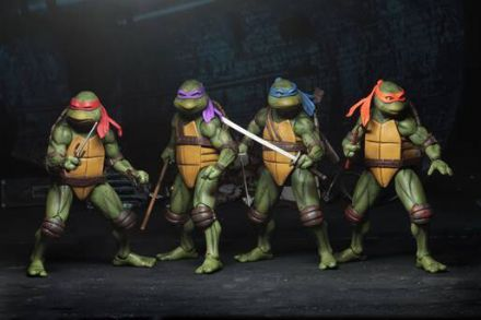 NECA TMNT Movie Action Figure Set Of 4 (Teenage Mutant Ninja Turtles)